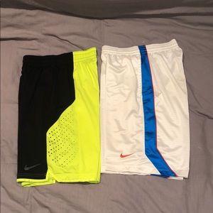 Lot of 2 Nike Basketball shorts